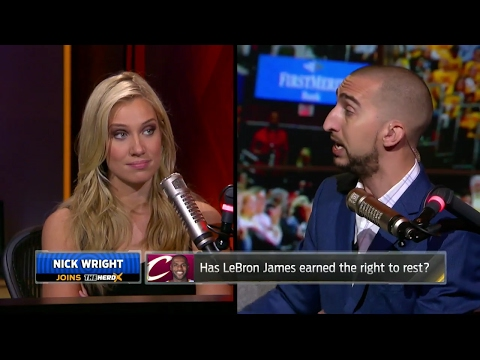 8c323e2b2d89 Has LeBron James earned the right to rest  Nick Wright and Kristine Leahy  debate