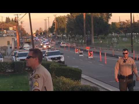 Law Enforcement Procession Escorts Fresno County Sergeant To Funeral Home Supernewsworld Com