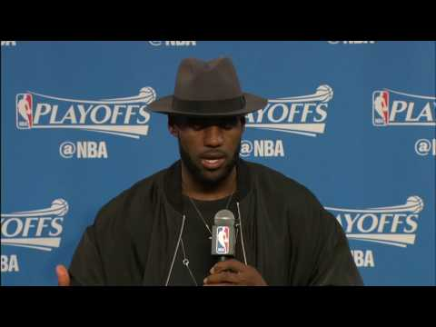 d2069b6c0cb LeBron James Postgame Interview