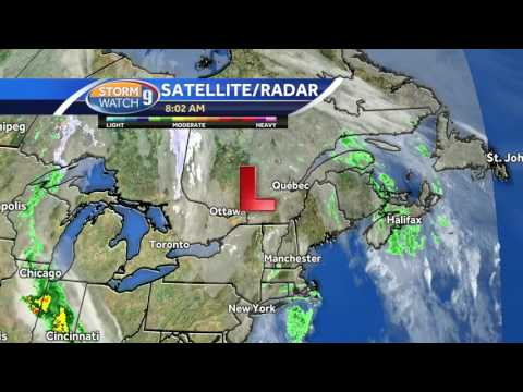 Watch: Clouds, scattered showers | SuperNewsWorld com