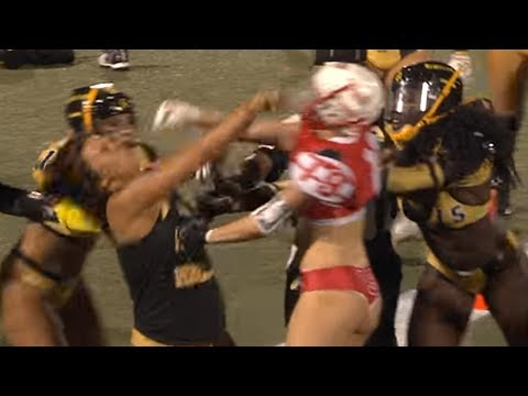 Lingerie Football League Player Gets KNOCKED OUT with One Punch ... 8bf957ea4