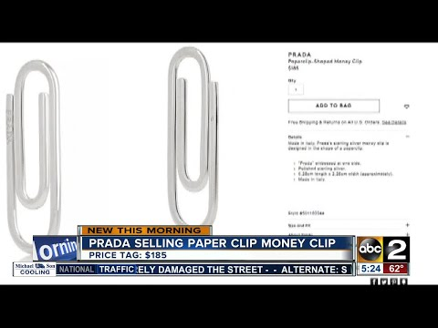 fba5b49a78ef18 Prada selling paper clip-shaped money clip | SuperNewsWorld.com