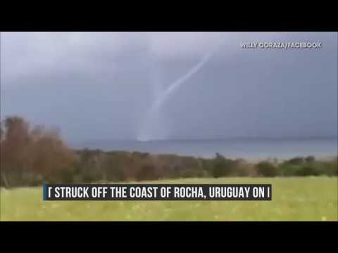 f862476ed544f Rare Waterspout Forms off Uruguayan Coast