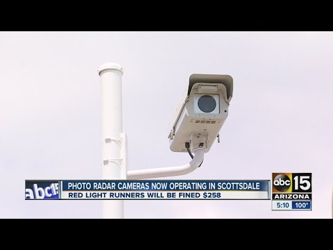 Photo radar cameras now operating in Scottsdale