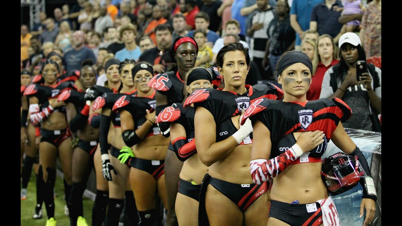 Ladies playing football in panties don t kneel for the anthem ... c76d3e0d6