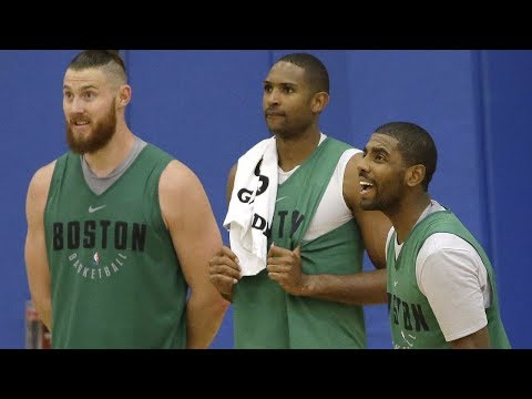 9c6875f08a4 Kyrie Irving talks about his first time on the court in TD Garden ...