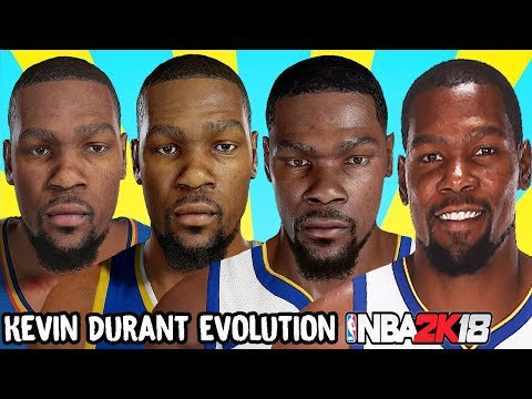 7cc7235dbdc Kevin Durant Ratings and Face Evolution (College Hoops 2K7 - NBA 2K18)
