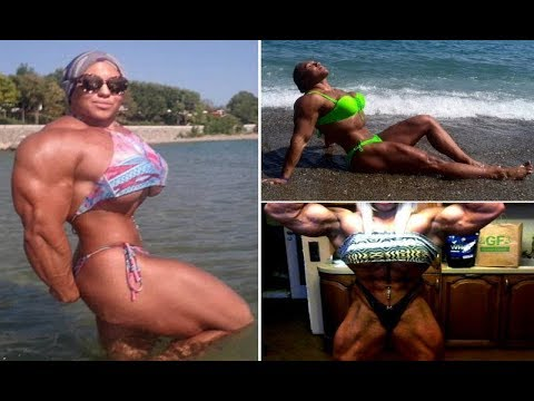 Russian Female Bodybuilder has set 3 World Records for bench
