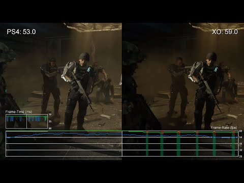 60fps Call Of Duty Advanced Warfare Ps4 Vs Xbox One Campaign Frame