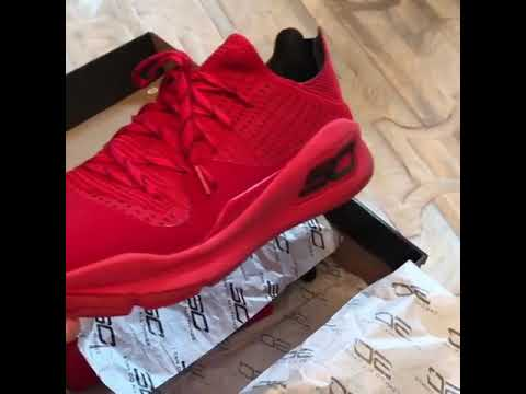 8a2891d2804c Steph Curry Unboxes UA Curry 4s
