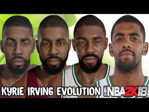 77100d6827a4 Kyrie Irving Ratings and Face Evolution (NBA 2K12 - NBA 2K18 ...
