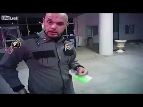 Police exchange Gun Fire with a Suspect wearing a Security