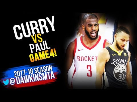 e8c577105ca9 Stephen Curry vs Chris Paul EPiC Duel 2018 WCF Game 4 - Steph With ...