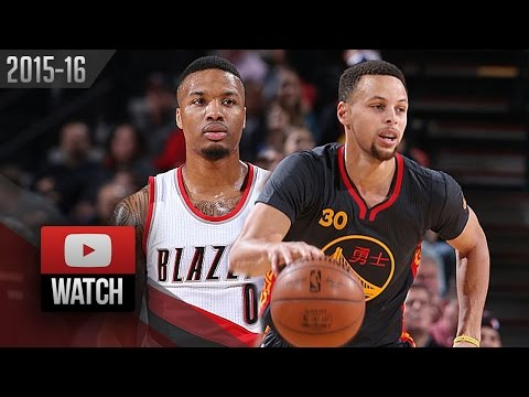 44925cf4afdc Damian Lillard vs Stephen Curry PG DUEL Highlights (2016.02.19) Blazers vs  Warriors - MUST Watch!