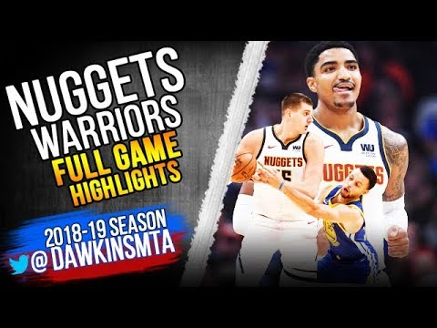 4bd53ce0fcd Denver Nuggets vs Golden State Warriors Full Game Highlights ...