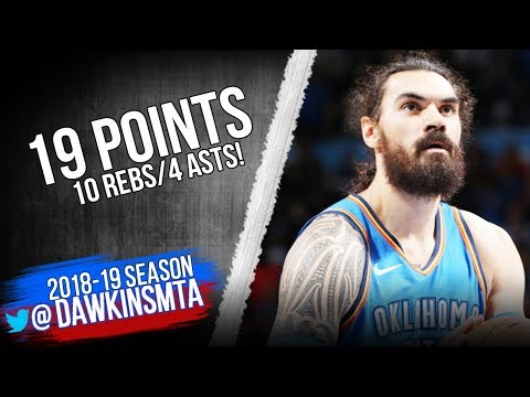 e6a2094439bb Steven Adams Full Highlights 2018.11.08 Thunder vs Rockets - 19 Pts ...