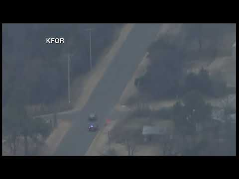 Dramatic ending to high-speed chase in Norman