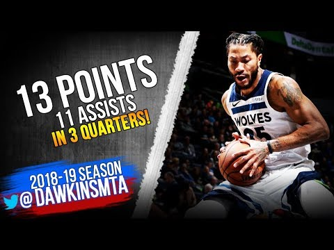 a88683bc78b9 Derrick Rose Full Highlights 2018.12.17 TWolves vs Kings - 13 Pts ...