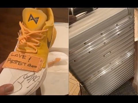 2745ba64f42e Dwyane Wade Receives Paul George s Signed Signature Shoes