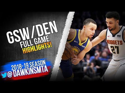 05916fd7e39 Golden State Warriors vs Denver Nuggets Full Game Highlights ...