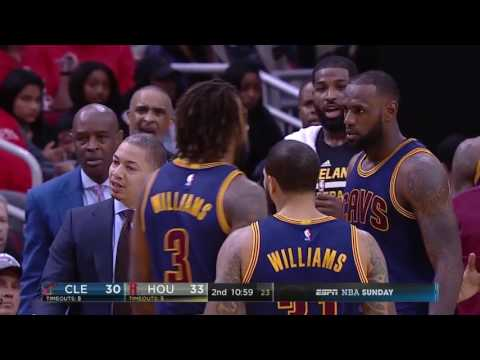 07876494216 LeBron James Throws It Down Cavaliers vs Rockets March 12