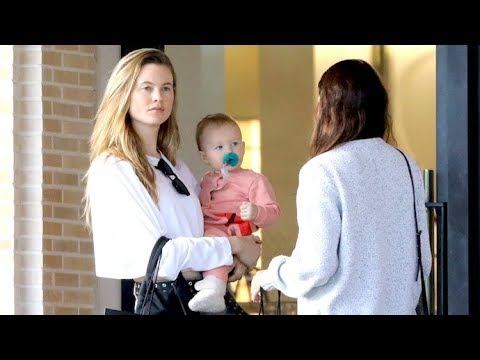 0e35162929e6 Behati Prinsloo Displays Sheer Perfection At Barney s With Adorable  Daughter Dusty Rose