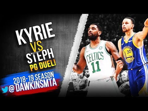 c646b300bfce Kyrie Irving vs Stephen Curry PG Duel 2019.03.05 - Steph With 23 ...