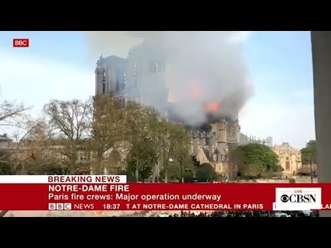Notre Dame Cathedral in Paris on fire, live stream (CBS News